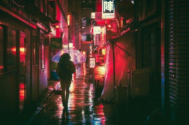 Japonsko v noci