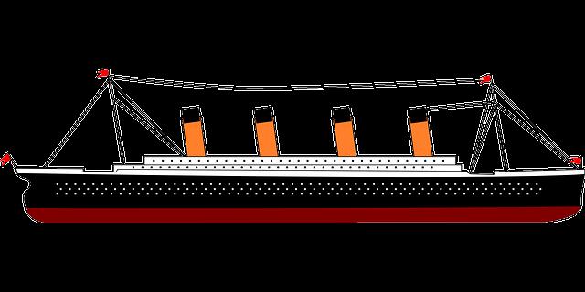 jednoduchá kresba Titanicu