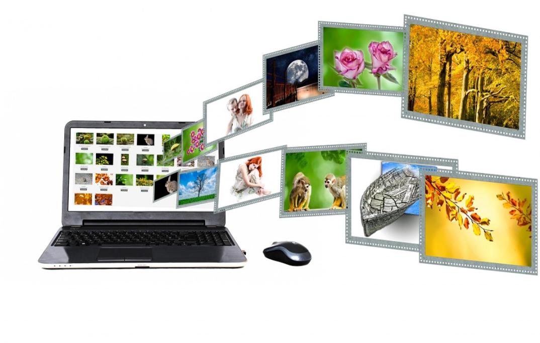 počítač a obrázky